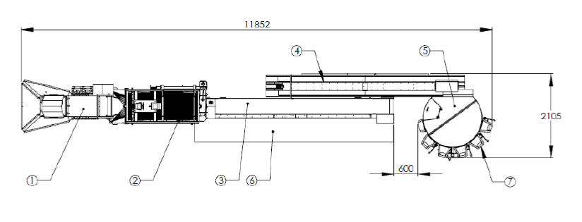 Линия мойки, сортировки и калибровки товарной устрицы 1