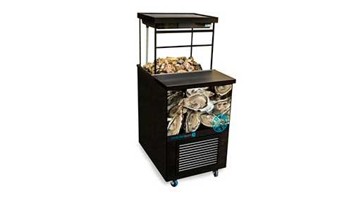 Витрина - бар (аквариум) для хранения живых устриц и мидий 1