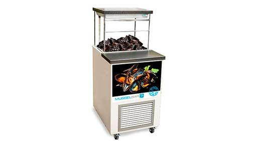 Витрина - бар (аквариум) для хранения живых устриц и мидий 2